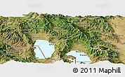 Satellite Panoramic Map of Ohrid