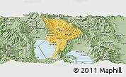 Savanna Style Panoramic Map of Ohrid