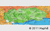 Political Shades Panoramic Map of Macedonia