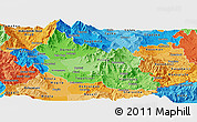 Political Shades Panoramic Map of Prilep