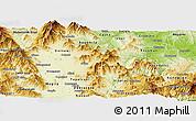 Physical Panoramic Map of Prilep