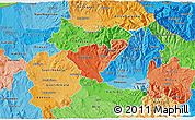 Political Shades 3D Map of Probistip