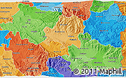 Political Shades 3D Map of Radovis