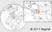 Blank Location Map of Konce