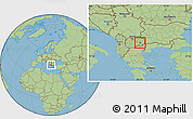 Savanna Style Location Map of Konce