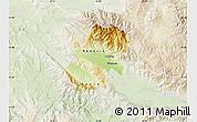 Physical Map of Radovis, lighten