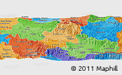 Political Shades Panoramic Map of Radovis