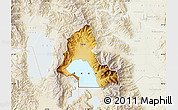 Physical Map of Resen, lighten