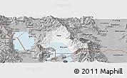 Gray Panoramic Map of Resen