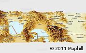 Physical Panoramic Map of Resen