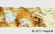 Political Panoramic Map of Resen, physical outside