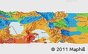 Political Panoramic Map of Resen