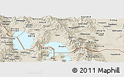 Shaded Relief Panoramic Map of Resen
