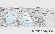 Silver Style Panoramic Map of Resen