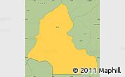 Savanna Style Simple Map of Resen