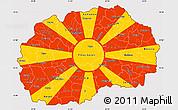 Flag Simple Map of Macedonia