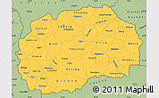 Savanna Style Simple Map of Macedonia