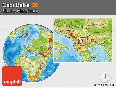 Physical Location Map of Gazi Baba
