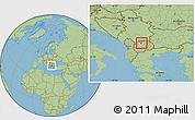 Savanna Style Location Map of Gazi Baba, highlighted parent region