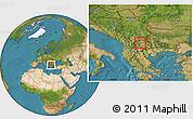 Satellite Location Map of Ilinden