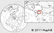 Blank Location Map of Kisela Voda
