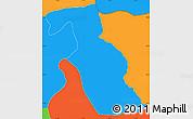 Political Simple Map of Kondovo