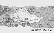 Gray Panoramic Map of Skopje