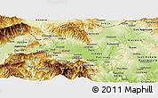 Physical Panoramic Map of Skopje