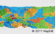 Political Panoramic Map of Skopje