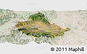Satellite Panoramic Map of Skopje, lighten