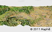 Satellite Panoramic Map of Skopje