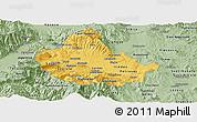 Savanna Style Panoramic Map of Skopje