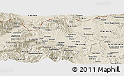 Shaded Relief Panoramic Map of Skopje
