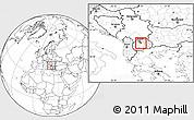 Blank Location Map of Zelenikovo, highlighted parent region