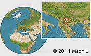 Satellite Location Map of Zelenikovo, highlighted parent region