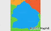 Political Simple Map of Zelenikovo