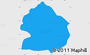 Political Simple Map of Zelenikovo, single color outside