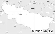 Silver Style Simple Map of Karbinci