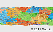 Political Shades Panoramic Map of Stip