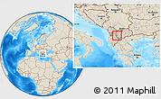 Shaded Relief Location Map of Delogozdi