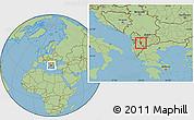 Savanna Style Location Map of Struga
