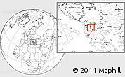 Blank Location Map of Velesta