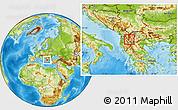 Physical Location Map of Velesta