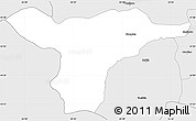 Silver Style Simple Map of Strumica