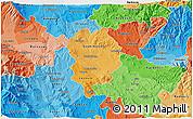Political Shades 3D Map of Sveti Nikole