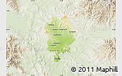 Physical Map of Sveti Nikole, lighten