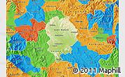 Physical Map of Sveti Nikole, political outside