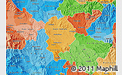 Political Shades Map of Sveti Nikole