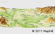Physical Panoramic Map of Sveti Nikole