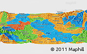 Political Panoramic Map of Sveti Nikole